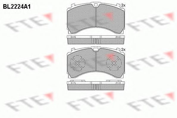Комплект тормозных колодок, дисковый тормоз FTE BL2224A1