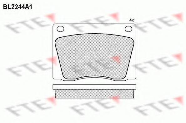 Комплект тормозных колодок, дисковый тормоз FTE BL2244A1