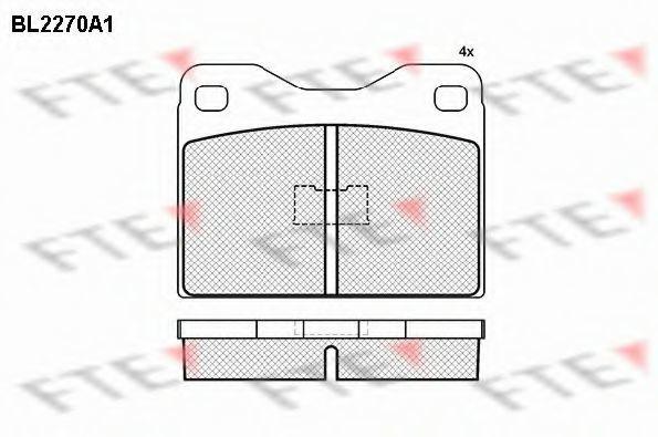 Комплект тормозных колодок, дисковый тормоз FTE BL2270A1