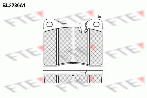 Комплект тормозных колодок, дисковый тормоз FTE BL2286A1