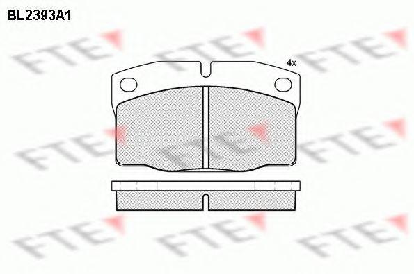 Комплект тормозных колодок, дисковый тормоз FTE BL2393A1