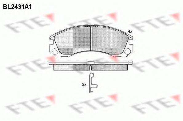 Комплект тормозных колодок, дисковый тормоз FTE BL2431A1