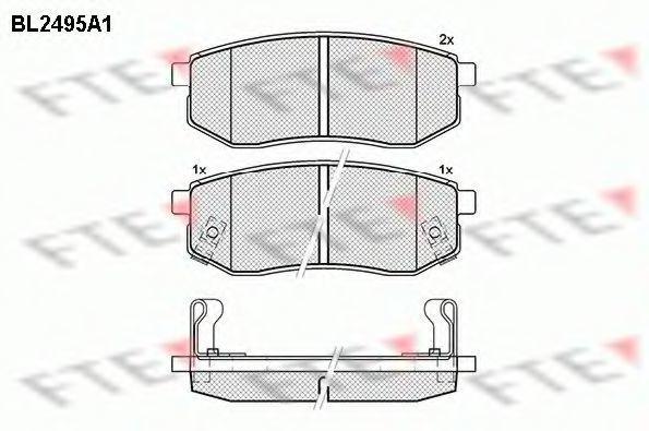 Комплект тормозных колодок, дисковый тормоз FTE BL2495A1