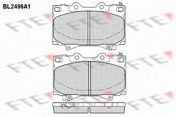 Комплект тормозных колодок, дисковый тормоз FTE BL2496A1
