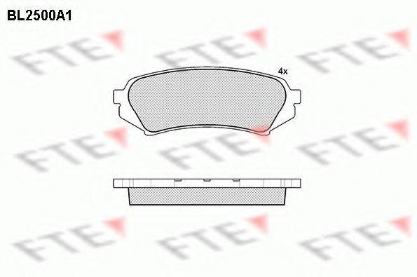 Комплект тормозных колодок, дисковый тормоз FTE BL2500A1