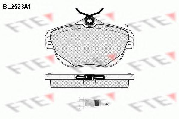Комплект тормозных колодок, дисковый тормоз FTE BL2523A1
