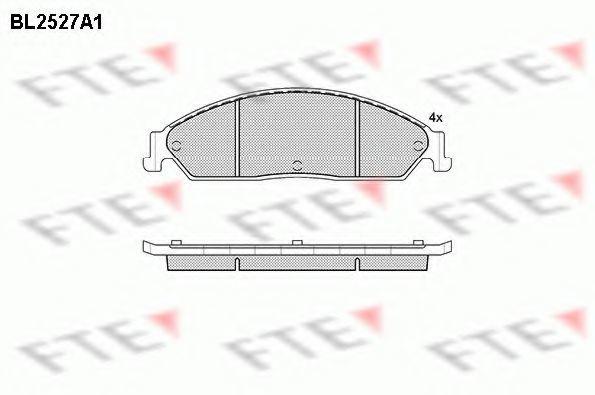 Комплект тормозных колодок, дисковый тормоз FTE BL2527A1