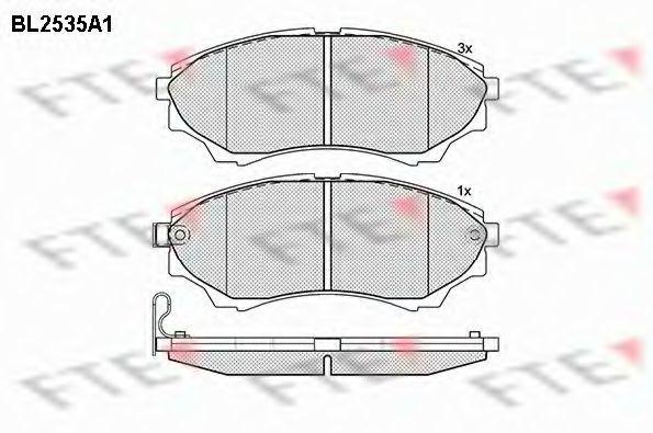 Комплект тормозных колодок, дисковый тормоз FTE BL2535A1