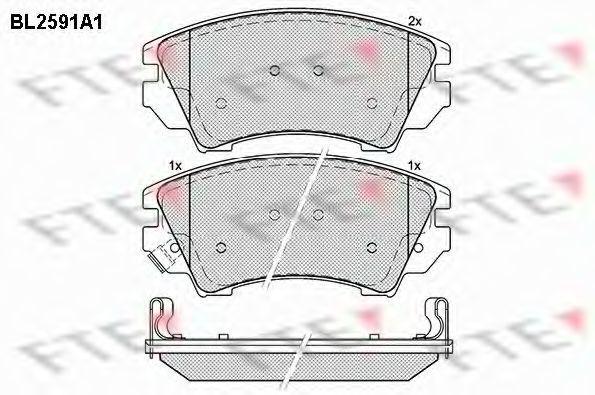 Комплект тормозных колодок, дисковый тормоз FTE BL2591A1