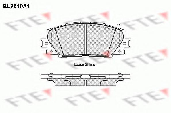 Комплект тормозных колодок, дисковый тормоз FTE BL2610A1