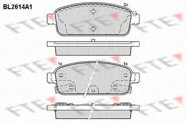 Комплект тормозных колодок, дисковый тормоз FTE BL2614A1