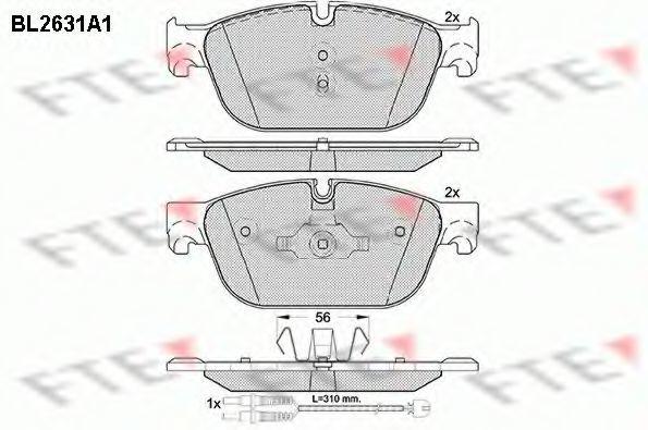Комплект тормозных колодок, дисковый тормоз FTE BL2631A1