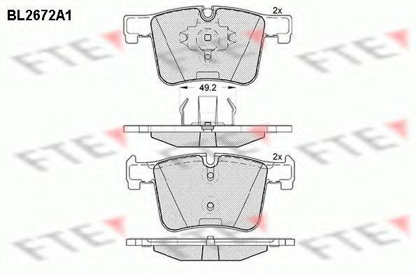 Комплект тормозных колодок, дисковый тормоз FTE BL2672A1