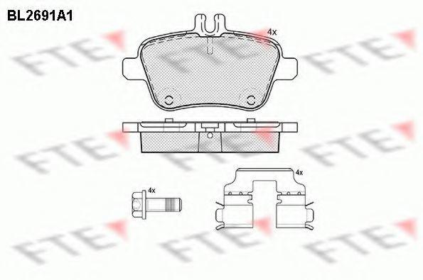 Комплект тормозных колодок, дисковый тормоз FTE BL2691A1