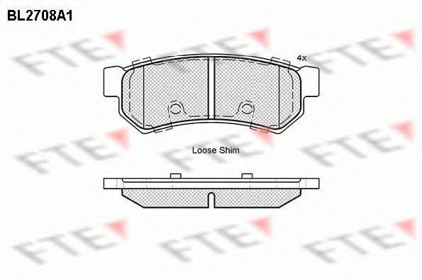 Комплект тормозных колодок, дисковый тормоз FTE BL2708A1