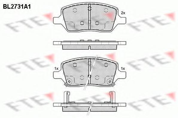 Комплект тормозных колодок, дисковый тормоз FTE BL2731A1