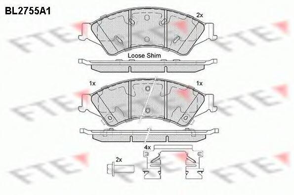 Комплект тормозных колодок, дисковый тормоз FTE BL2755A1