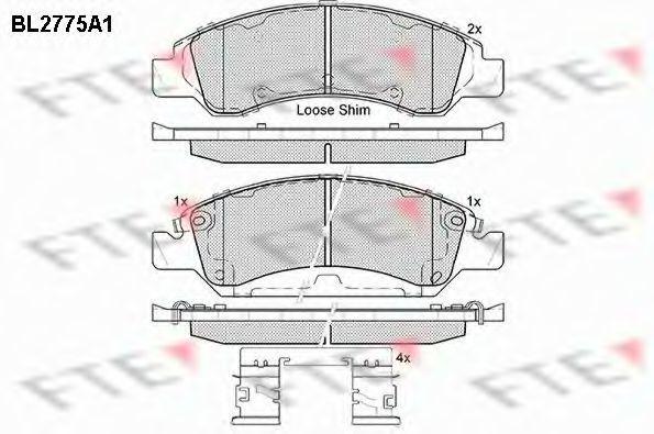 Комплект тормозных колодок, дисковый тормоз FTE BL2775A1