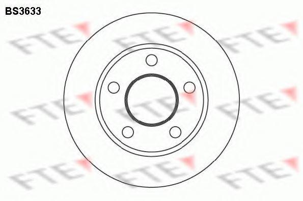 Тормозной диск FTE BS3633
