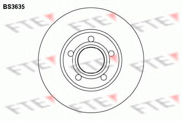 Тормозной диск FTE BS3635