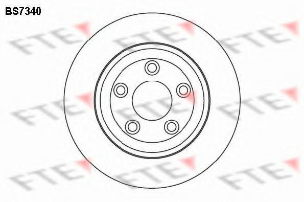 Тормозной диск FTE BS7340