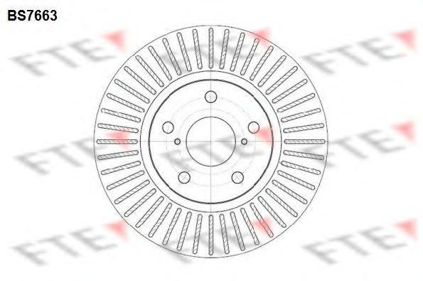 Тормозной диск FTE BS7663