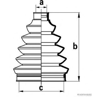 Комплект пылника, приводной вал JAKOPARTS J2860306
