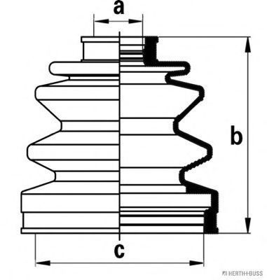 Пыльник ШРУС HERTH+BUSS JAKOPARTS J2863004