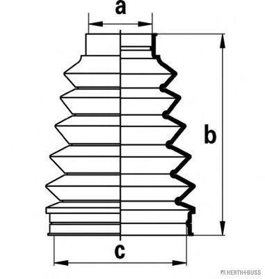 Комплект пылника, приводной вал HERTH+BUSS JAKOPARTS J2882012