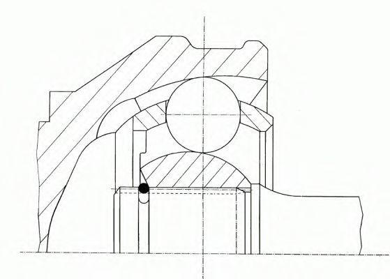 Шарнирный комплект, приводной вал LOEBRO 302295