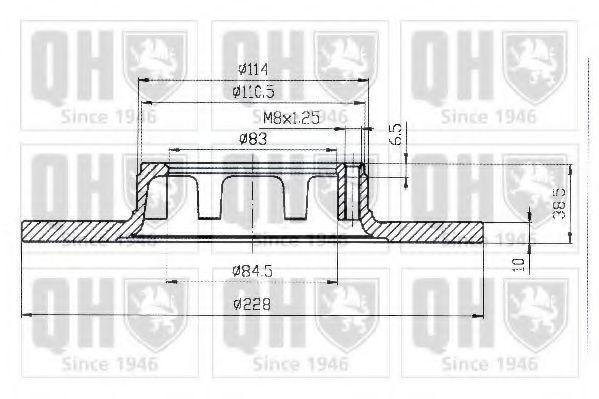 Тормозной диск QUINTON HAZELL BDC1026