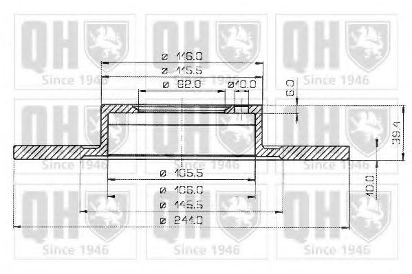 Тормозной диск QUINTON HAZELL BDC3167