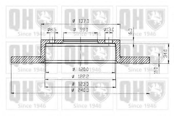 Тормозной диск QUINTON HAZELL BDC3592