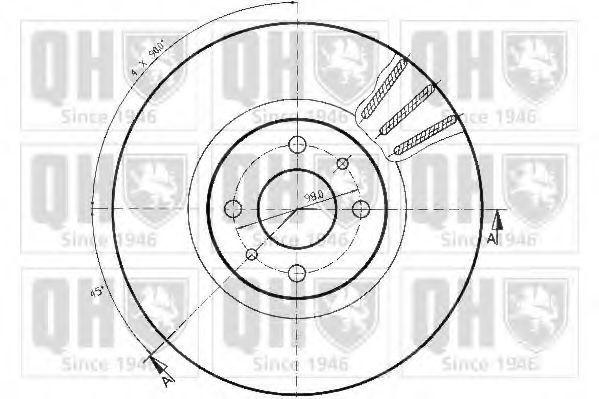 Диск тормозной QUINTON HAZELL BDC3766
