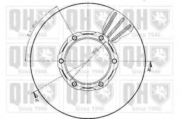 Тормозной диск QUINTON HAZELL BDC3832