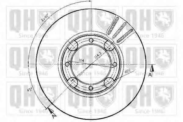Диск тормозной QUINTON HAZELL BDC 4183
