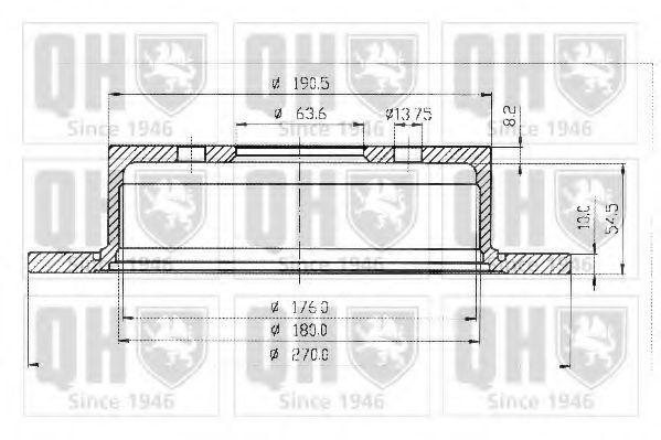 Диск тормозной d=270мм QUINTON HAZELL BDC 4349