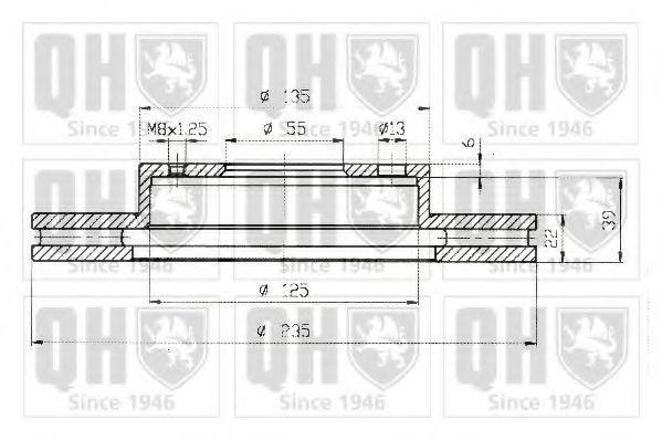 Тормозной диск QUINTON HAZELL BDC4386