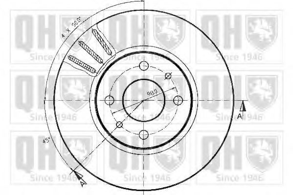 Диск тормозной QUINTON HAZELL BDC 4628