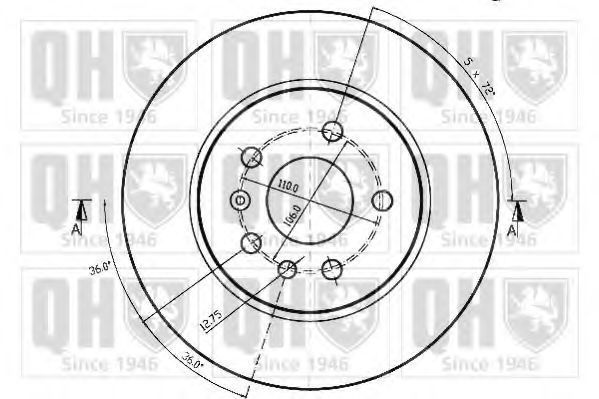 Диск тормозной QUINTON HAZELL BDC4680