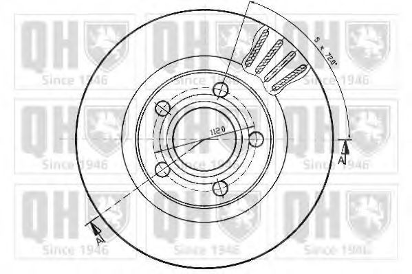 Диск тормозной QUINTON HAZELL BDC4752