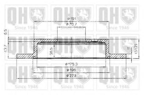 Тормозной диск QUINTON HAZELL BDC4798