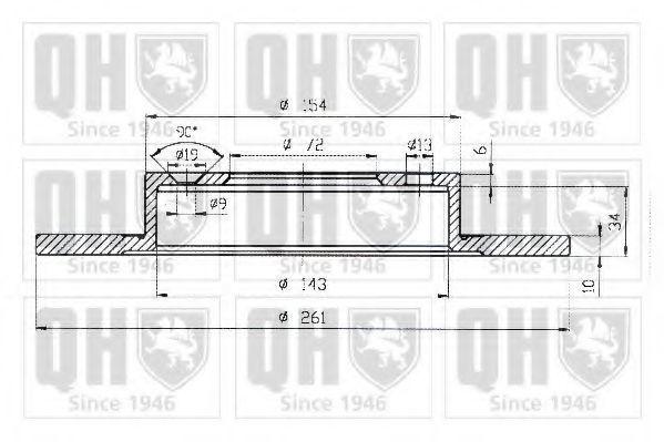 Диск тормозной QUINTON HAZELL BDC 5003