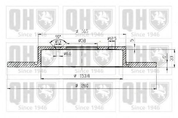 Диск тормозной QUINTON HAZELL BDC 5157
