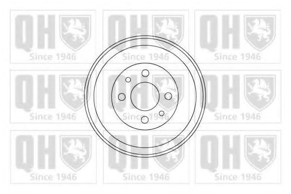 Барабан тормозной QUINTON HAZELL BDR146