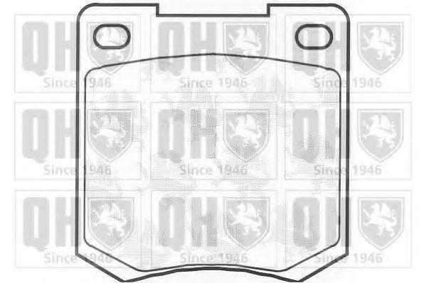 Комплект тормозных колодок, дисковый тормоз QUINTON HAZELL BP100