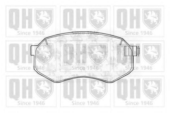 Комплект тормозных колодок, дисковый тормоз QUINTON HAZELL BP1001