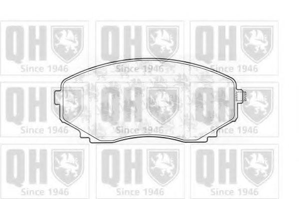 Комплект тормозных колодок, дисковый тормоз QUINTON HAZELL BP1024
