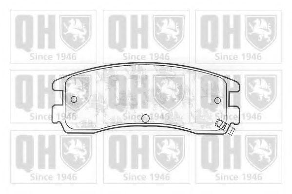 Комплект тормозных колодок, дисковый тормоз QUINTON HAZELL BP1042