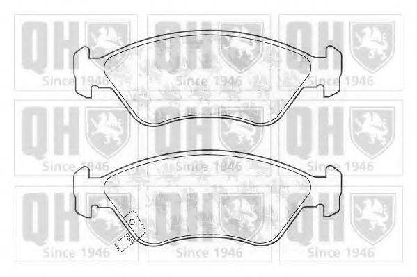 Комплект тормозных колодок, дисковый тормоз QUINTON HAZELL BP1071